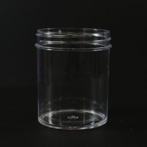 Plastic Jar 4 oz. Regular Wall Straight Base Clear PS 58-400_1286