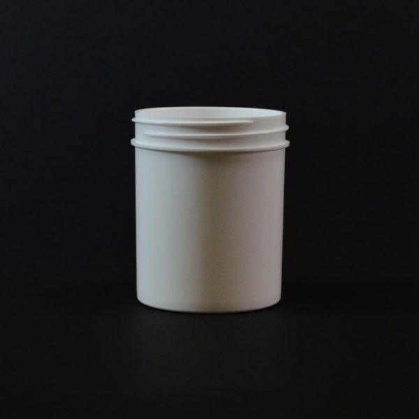 Plastic Jar 4 oz. Regular Wall Straight Base White PP 58-400_1288