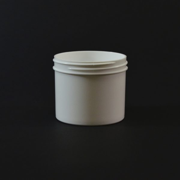 Plastic Jar 4 oz. Regular Wall Straight Base White PP 70-400_1291