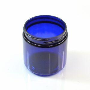 Plastic Jar 4 oz. Straight Sided PET Cobalt 58-400_1370