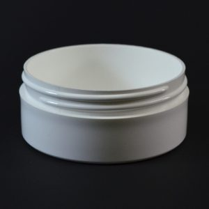 Plastic Jar 4 oz. Thick Wall Straight Base White PP 89-400_1477