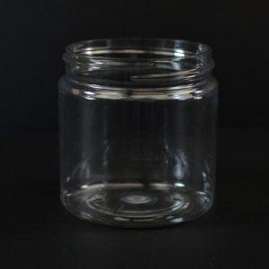 Plastic Jar 4 oz. Wide Mouth Clear PET 58-400_1368