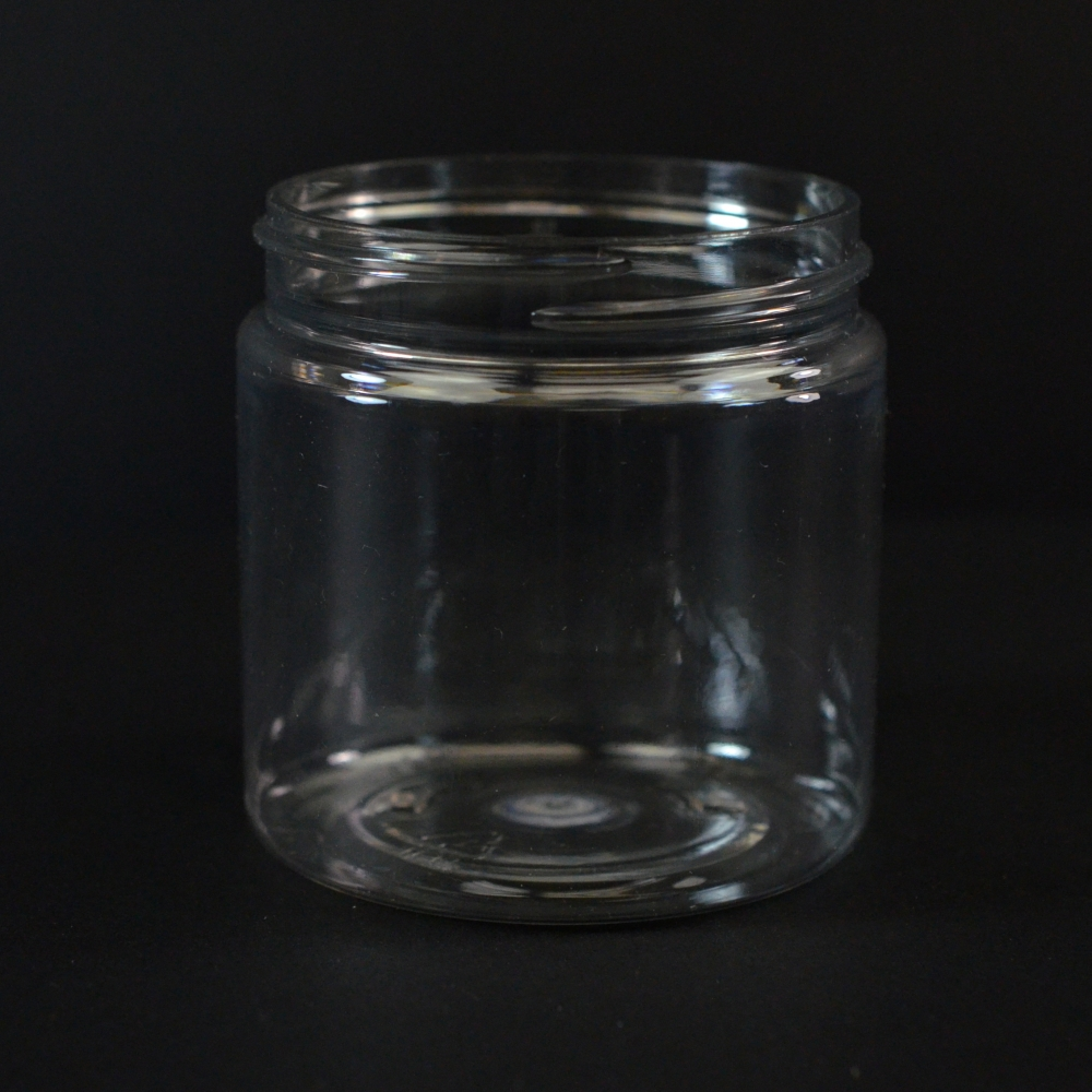 4 oz 58/400 Wide Mouth Clear PET Jar
