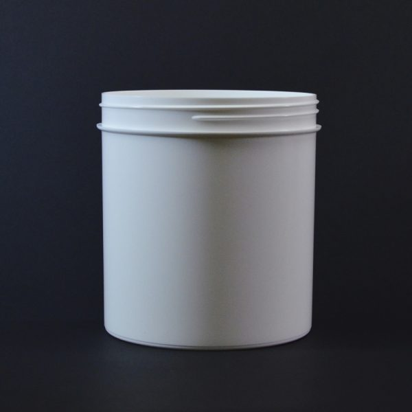 Plastic Jar 40 oz. Regular Wall Straight Base White PP 120-400_1339