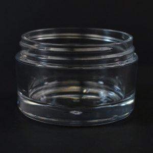 Plastic Jar 50ml Heavy Wall Low Profile Clear PETG 58-400_1508