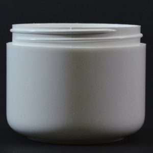 Plastic Jar 6 oz. Double Wall Round Base White PP-PS 70-400_1183