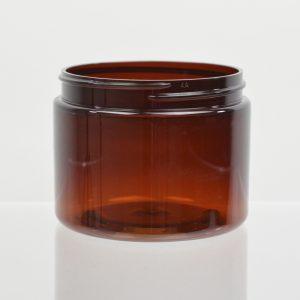 Plastic Jar 6 oz. Heavy Wall Amber PET 89-400_1214