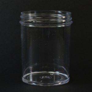 Plastic Jar 6 oz. Regular Wall Straight Base Clear PS 63-400_1295