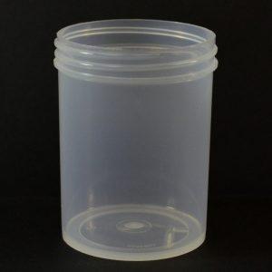 Plastic Jar 6 oz. Regular Wall Straight Base Natural PP 63-400_1296