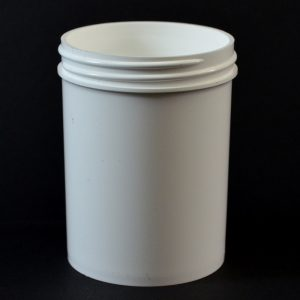 Plastic Jar 6 oz. Regular Wall Straight Base White PP 63-400_1297