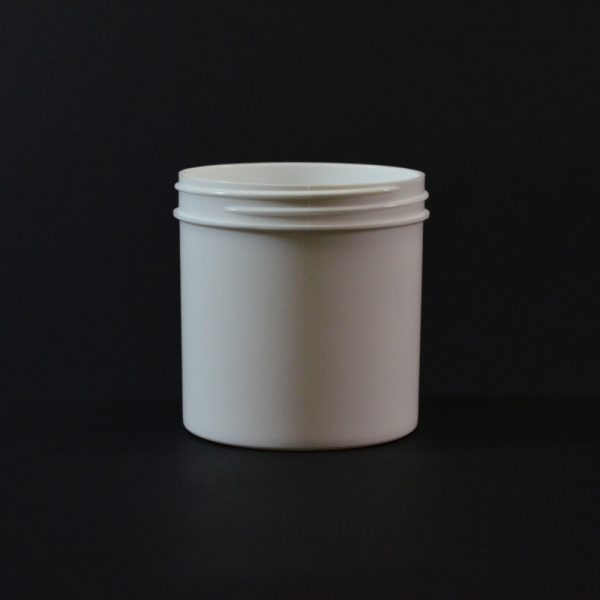 Plastic Jar 6 oz. Regular Wall Straight Base White PP 70-400_1300