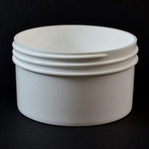 Plastic Jar 6 oz. Regular Wall Straight Base White PP 89-400_1303