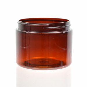 Plastic Jar 6 oz. Straight Sided PET Amber 70-400_1373
