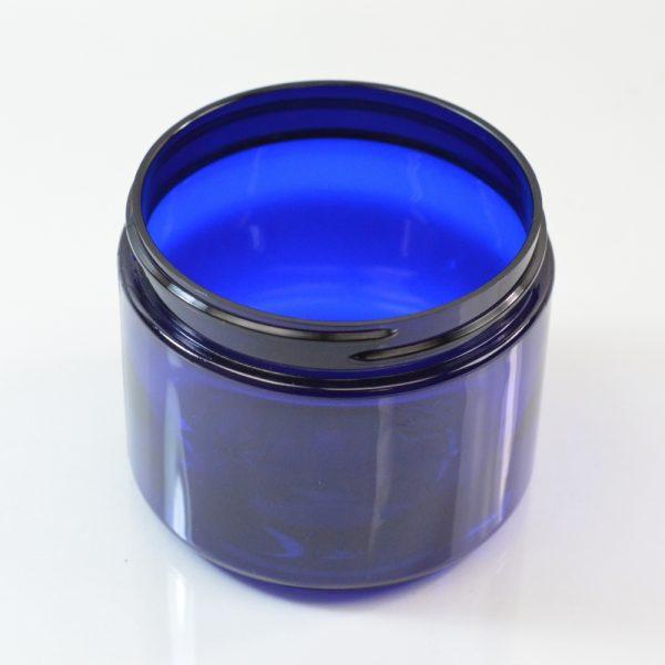 Plastic Jar 6 oz. Straight Sided PET Cobalt 70-400_1376
