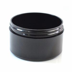 Plastic Jar 6 oz. Thick Wall PP Black 89-400_1484