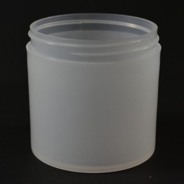 Plastic Jar 6 oz. Thick Wall Straight Base Natural PP 70-400_1479
