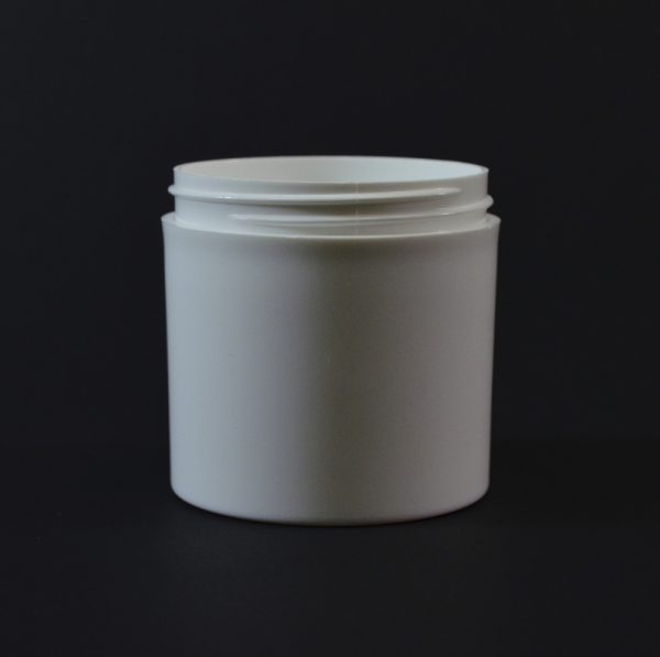 Plastic Jar 6 oz. Thick Wall Straight Base White PP 70-400_1480