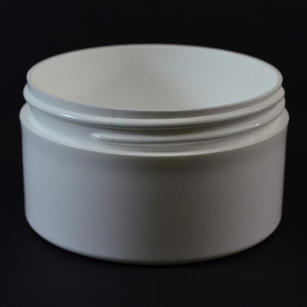 Plastic Jar 6 oz. Thick Wall Straight Base White PP 89-400_1483