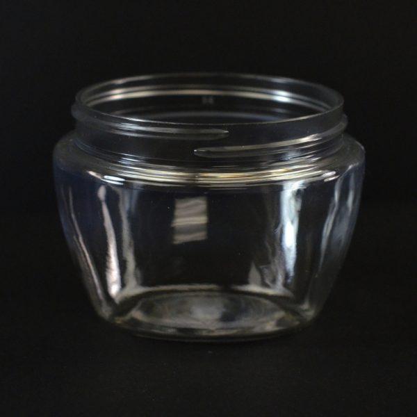 Plastic Jar 6 oz. Venetian Clear PET 70-400_1398