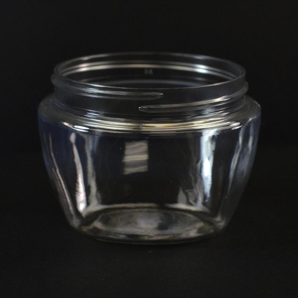 6 oz 70/400 Venetian Clear PET Jar