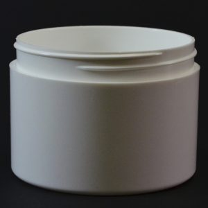 Plastic Jar 8 oz. Double Wall Straight Base White PP-PS 89-400_1205