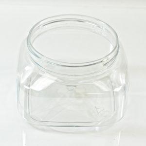 Plastic Jar 8 oz. Firenze Square Clear PET 70-400_1223