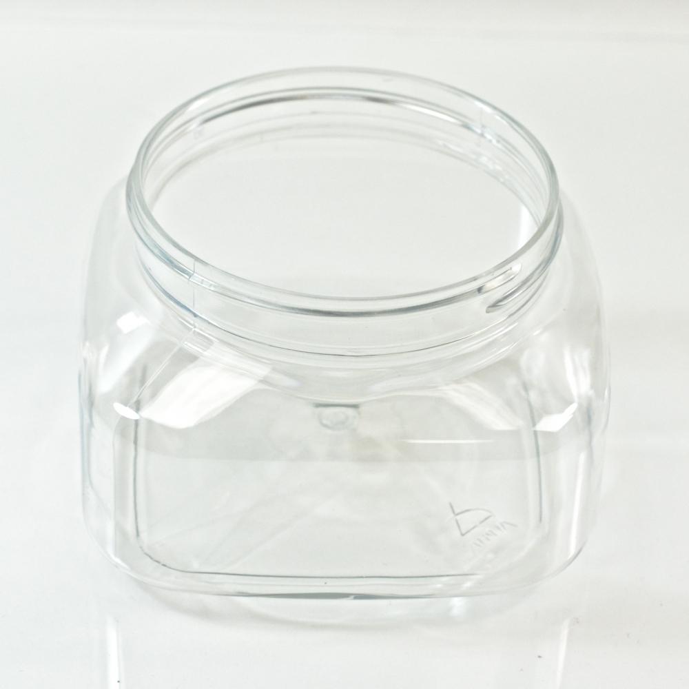 8 oz 70/400 Firenze Square Clear PET Jar