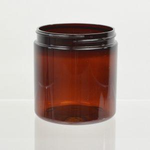 Plastic Jar 8 oz. Heavy Wall Amber PET 89-400_1216