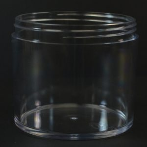 Plastic Jar 8 oz. Heavy Wall Low Profile Clear PETG Tainer_1533