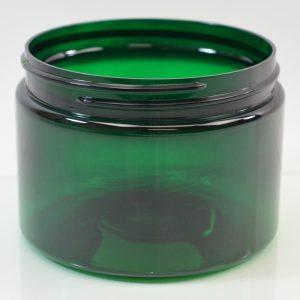 Plastic Jar 8 oz. Heavy Wall Low Profile PET Emerald 89-400_1219