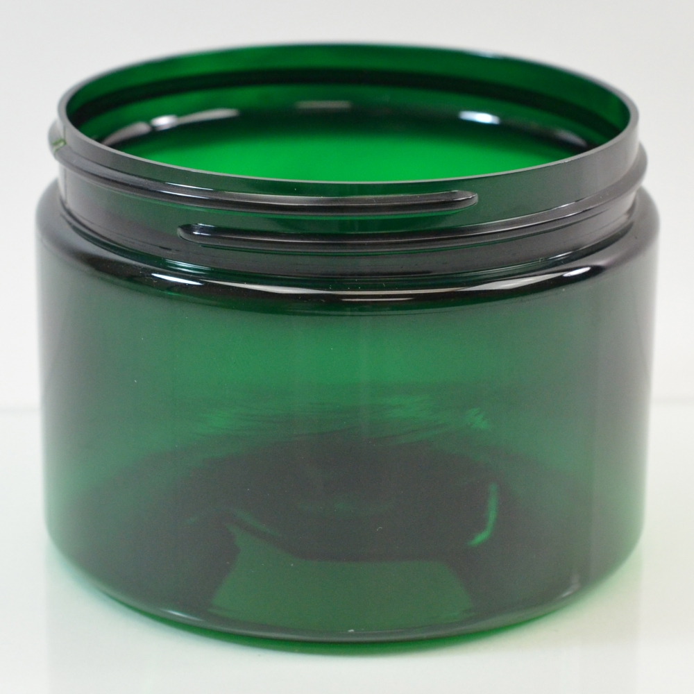 8 oz 89/400 Low Profile Emerald PET Jar