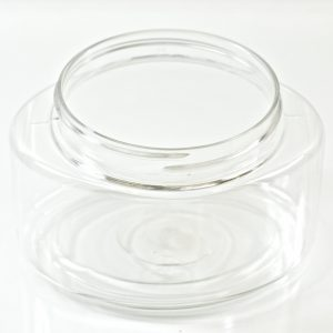 Plastic Jar 8 oz. Palermo Oval Clear PET 70-400_1226