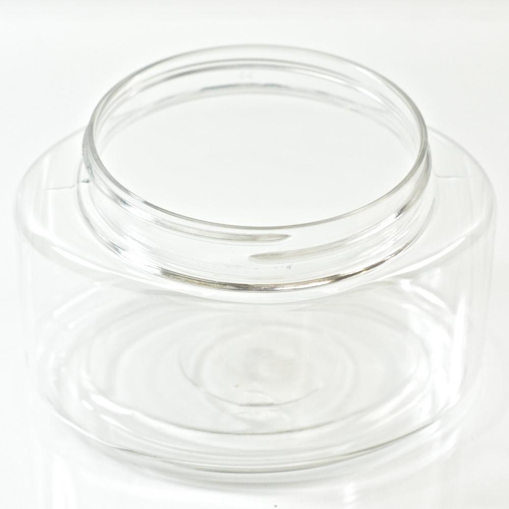 8 oz 70/400 Palermo Oval Clear PET Jar