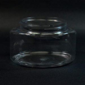 Plastic Jar 8 oz. Powell Oval PET Clear 70-400_1232