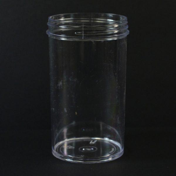 Plastic Jar 8 oz. Regular Wall Straight Base Clear PS 63-400_1304