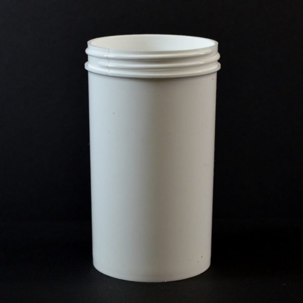 Plastic Jar 8 oz. Regular Wall Straight Base White PP 63-400_1306