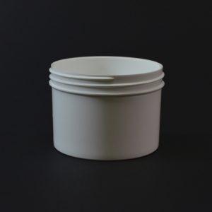 Plastic Jar 8 oz. Regular Wall Straight Base White PP 89-400_1312