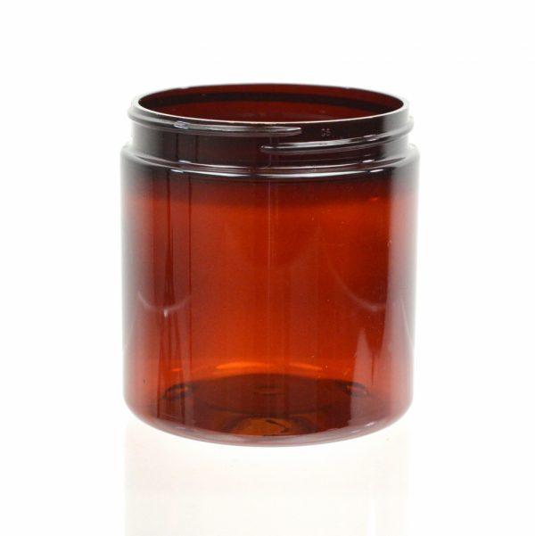 Plastic Jar 8 oz. Straight Sided PET Amber 70-400_1378