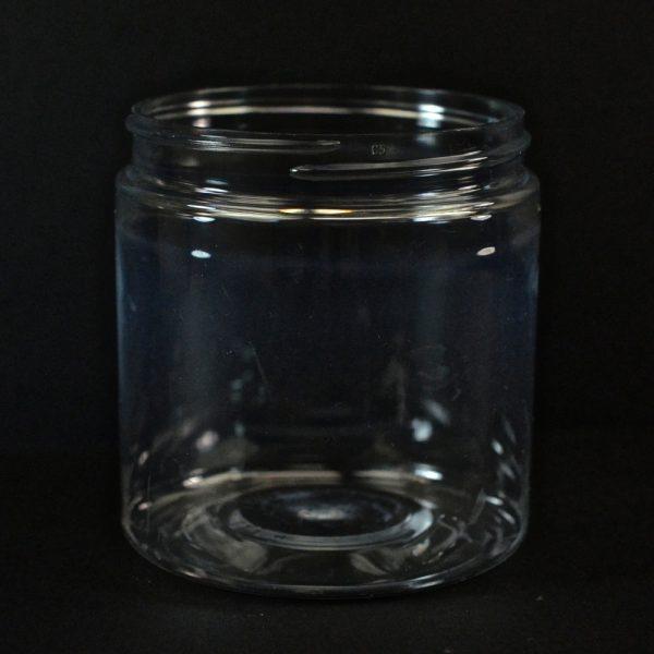 Plastic Jar 8 oz. Straight Sided PET Clear 70-400_1380