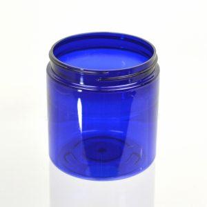 Plastic Jar 8 oz. Straight Sided PET Cobalt 70-400_1381
