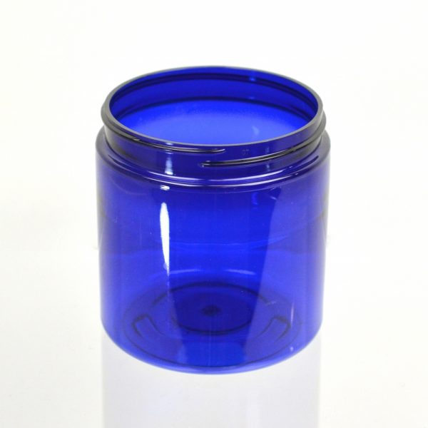 Plastic Jar 8 oz. Straight Sided PET Cobalt 70-400_1381