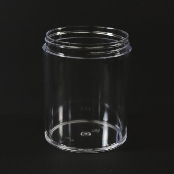 Plastic Jar 8 oz. Thick Wall Straight Base Clear PS 70-400_1485