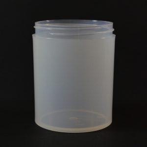Plastic Jar 8 oz. Thick Wall Straight Base Natural PP 70-400_1486