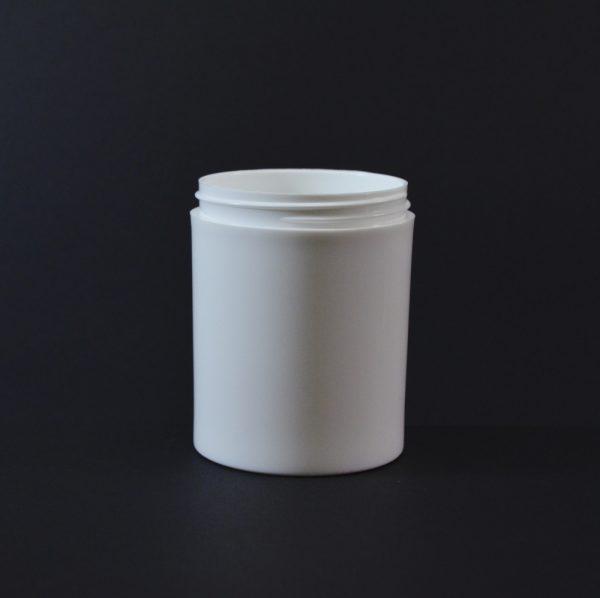 Plastic Jar 8 oz. Thick Wall Straight Base White PP 70-400_1487