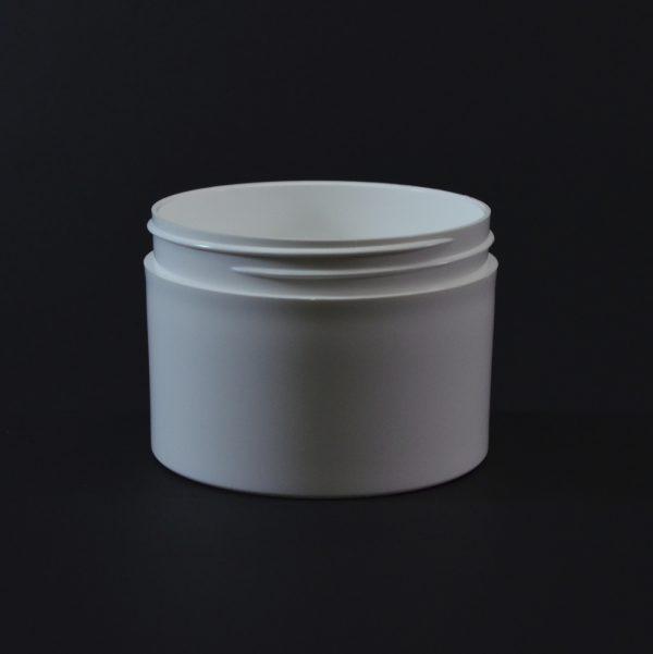 Plastic Jar 8 oz. Thick Wall Straight Base White PP 89-400_1490
