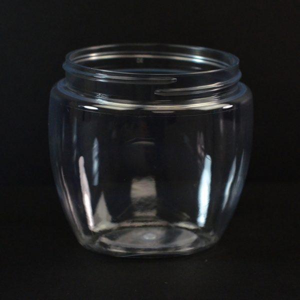 Plastic Jar 8 oz. Venetian Clear PET 70-400_1399