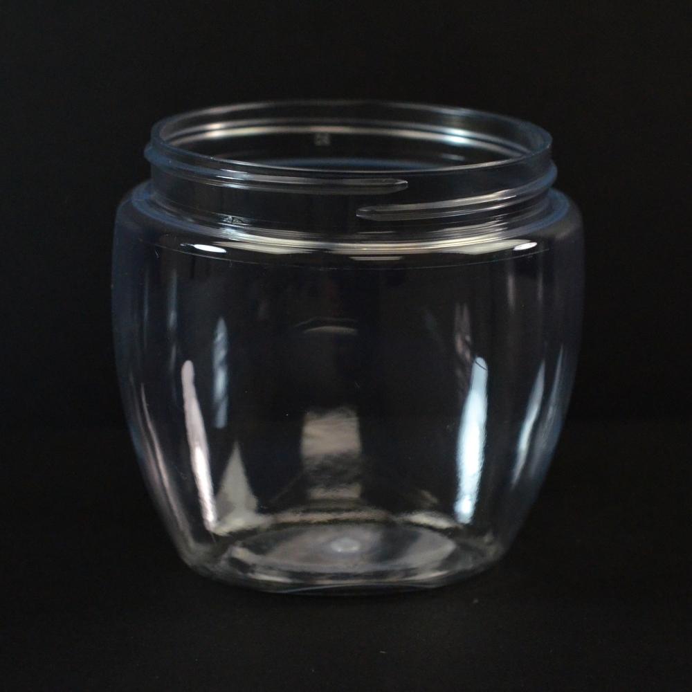 8 oz 70/400 Venetian Clear PET Jar