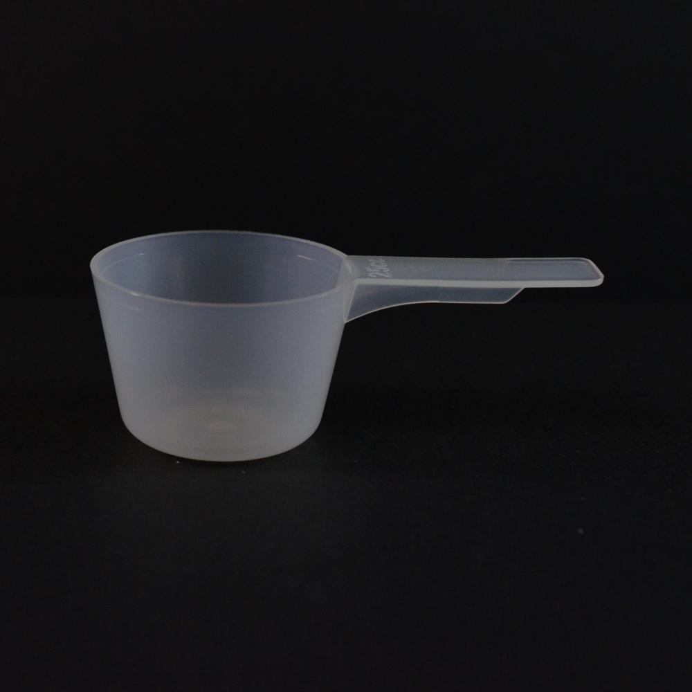 25 cc Plastic Measuring Scoop Natural Short Handle 3.147 X 1.647 X 1.098