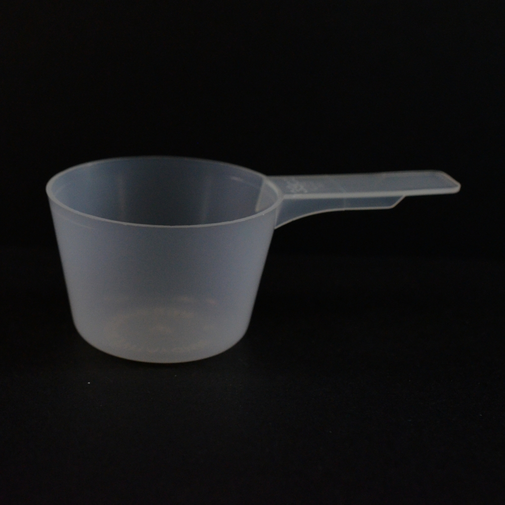 39 cc Plastic Measuring Scoop Natural Short Handle