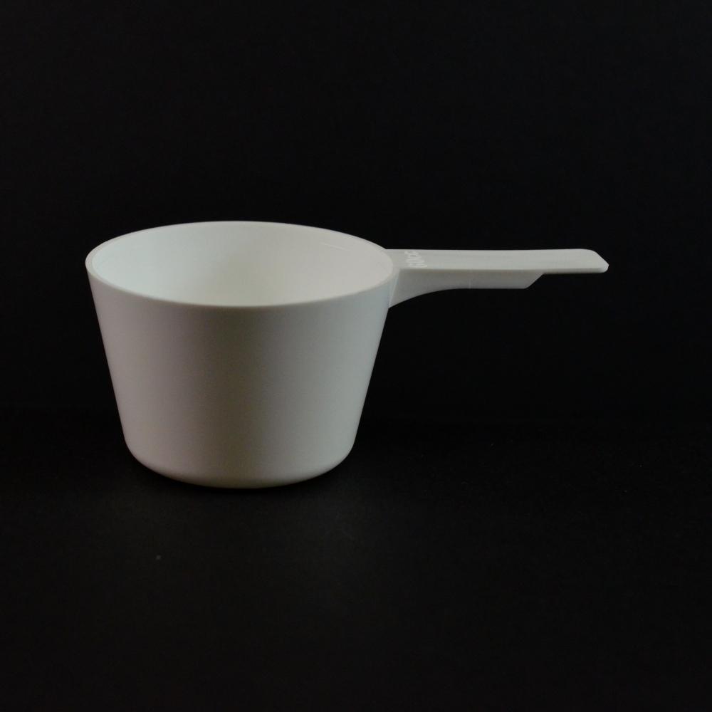 60 cc Plastic Measuring Scoop White Short Handle 5.676 X 2.176 X 1.451